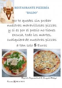 martes pizzas 5 euros